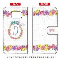 Galaxy S6 SC-05G/docomo専用 Coverfull   Cf LTD イニシャル パステルフラワー D DSC05G-IJTC-401-MCH2