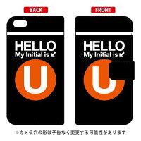 iPhone 6 Plus/Apple専用 Coverfull   Cf LTD サブウェイ イニシャル アルファベット U オレンジ 3AP6PS-IJTC-401-MDG7