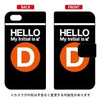 iPhone 5c/au専用 Coverfull   Cf LTD サブウェイ イニシャル アルファベット D オレンジ AAPI5C-IJTC-401-MDE8