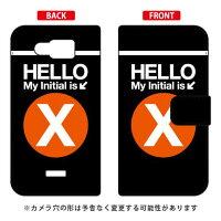 AQUOS PHONE SERIE mini SHL24/au専用 Coverfull   Cf LTD サブウェイ イニシャル アルファベット X オレンジ ASHL24-IJTC-401-MDH1