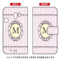 らくらくスマートフォン3 F-06F/docomo専用 Coverfull 手帳型Cf LTD イニシャル アルファベット M ピンク DFJF6F-IJTC-401-MCW6