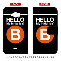 Disney Mobile on docomo SH-02G/docomo専用 Coverfull 手帳型Cf LTD サブウェイ イニシャル アルファベット B オレンジ DSH02G-IJTC-401-MDE6