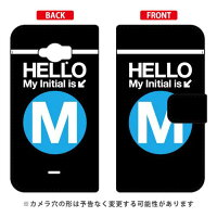 Disney Mobile on docomo SH-02G/docomo専用 Coverfull 手帳型Cf LTD サブウェイ イニシャル アルファベット M サックDSH02G-IJTC-401-MDI7