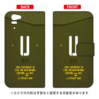 Disney Mobile on docomo SH-05F/docomo専用 Coverfull 手帳型Cf LTD ミリタリー イニシャル アルファベット U カーキ DSH05F-IJTC-401-MD30
