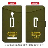 ZenFone 5 A500KL/楽天モバイル専用 Coverfull 手帳型Cf LTD ミリタリー イニシャル アルファベット O カーキ RASZF5-IJTC-401-MD24