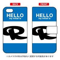 iPhone 5s/SoftBank専用 Coverfull 手帳型Cf LTD ハロー イニシャル アルファベット R ブルー SAPI5S-IJTC-401-MDD5