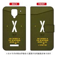 Disney Mobile on SoftBank DM016SH/SoftBank専用 Coverfull 手帳型Cf LTD ミリタリー イニシャル アルファベット X カーキ SSH016-IJTC-401-MD33