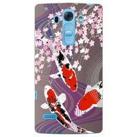 Coverfull 鯉と桜 パープル produced by COLOR STAGE / for Disney Mobile on docomo DM-01G/docomo DLGDM1-ABWH-151-MAD7