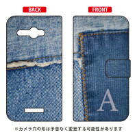 Coverfull 手帳型フォトデニム イニシャル A design by ARTWORK / for HTC J butterfly HTL21/au AHTL21-IJTC-401-MCM6
