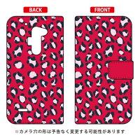SECOND SKIN 手帳型Leopard レッド design by ROTM / for isai FL LGL24/au ALGL24-IJTC-401-LIV3