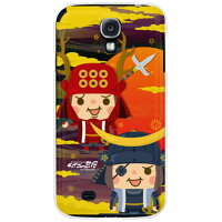 SECOND SKIN チョイコレ武将 政宗と幸村と クリア design by 稲葉貴洋 / for GALAXY S4 SC-04E/docomo DSCC4E-PCCL-205-Y769