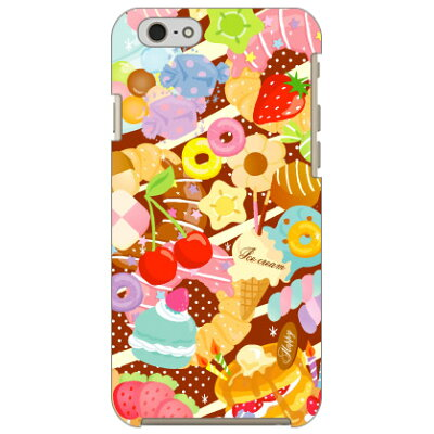 Coverfull Milk's Design しらくらゆりこ Sweet time / for iPhone 6s/Apple 3API6S-ABWH-151-M003