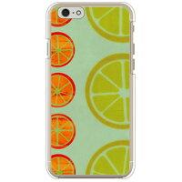 (スマホケース)オレンジフルーツ ブルー (クリア)/ for iPhone 6s/Apple (Coverfull)