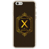 iPhone 6s/Apple専用 Coverfull Cf LTD ラグジュアリーイニシャル X ゴールドイエロー クリア 3API6S-PCCL-152-MC16