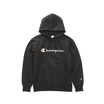 チャンピオン Champion プルオーバーフーデッドスウェット 横ロゴ ブラック C3-J117 090 メンズ