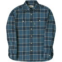 フォックスファイヤー Foxfire レディース TSメランジチェックシャツ TS Melange Check Shirt ブルー 8112935 040