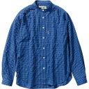 フォックスファイヤー Foxfire レディース TSギンガムシャツ TS Gingham shirt ブルー 8212044 040