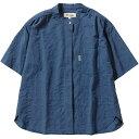フォックスファイヤー Foxfire レディース Cシールドプレザントシャツ S/S C-SHIELD Pleasant Shirt ブルー 8212045 040