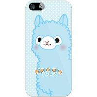iPhone 5s/au専用 スマートフォンケース アルパカッソシリーズ ブルー クリア AAPI5S-PCNT-214-SCK1