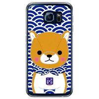 Galaxy S6 SC-05G/docomo専用 スマートフォンケース 豆しば三兄弟シリーズ 長男豆太郎 クリア DSC05G-PCNT-214-SCL1