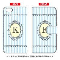 iPhone 6s/Apple専用 Coverfull スマートフォンケース 手帳型スマートフォンケース Cf LTD イニシャル アルファベット K サックス 3API6S-IJTC-401-MCT5
