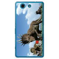 Xperia A4 SO-04G/docomo専用 スマートフォンケース Dinosaur Design 恐竜デザインシリーズ スティラコサウルスの群れ クリア DSO04G-PCNT-214-SCO2