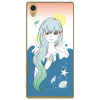 Coverfull Ocean Blue クリア design by いせきあい / for Xperia Z5 SO-01H/docomo DSO01H-PCCL-152-M863