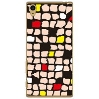 SECOND SKIN Mick ベージュ クリア / for Xperia Z5 SO-01H/docomo DSO01H-PCCL-299-Y282