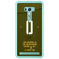 ZenFone Selfie ZD551KL/MVNOスマホ SIMフリー端末 専用 Coverfull スマートフォンケース Cf LTD ミリタリー イニシャル アルファベット O カーキ クリア MASSEL-PCCL-152-M652