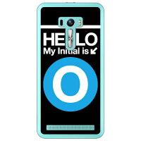 ZenFone Selfie ZD551KL/MVNOスマホ SIMフリー端末 専用 Coverfull スマートフォンケース Cf LTD サブウェイイニシャル O サックスブルー クリア MASSEL-PCCL-152-MCE2