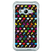 SECOND SKIN PEACE monogram ブラック マルチ ソフトTPUクリア design by ROTM / for Galaxy Active neo SC-01H/docomo DSC01H-TPCL-702-J150