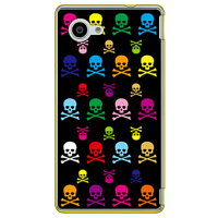SECOND SKIN Skull monogram ブラック マルチ クリア design by ROTM / for AQUOS Compact SH-02H/docomo DSH02H-PCCL-202-Y084