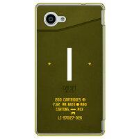 AQUOS Compact SH-02H/docomo専用 Coverfull スマートフォンケース Cf LTD ミリタリー イニシャル アルファベット I カーキ クリア DSH02H-PCCL-152-M646