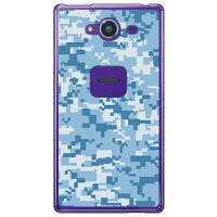 SECOND SKIN DIGITAL camouflage ブルー クリア design by Moisture / for AQUOS Xx2 502SH/SoftBank SSHXX2-PCCL-277-Y440