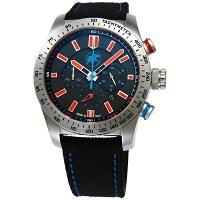 ハンティングワールド HUNTING WORLD スーパークロノマジック 〔ブラック/レッド メンズ〕 HW025SBKR 腕時計
