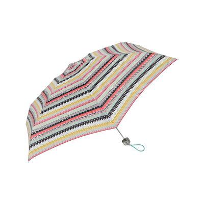 ミニ 手動開閉式折りたたみ傘 ガーリーボーダー UV