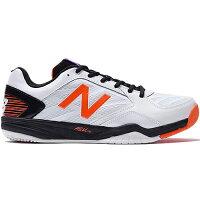 ニューバランス newbalance メンズ テニスシューズ オムニ・クレーコート ホワイト/オレンジ MC100WT1 2E