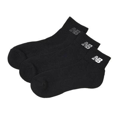 ニューバランス 靴下  ミッドレングス3Pソックス JASL7793-BK