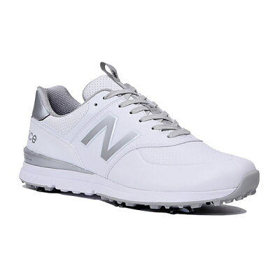 ニューバランス New Balance メンズ ゴルフシューズ シューレースタイプ MG574V2 26.0cm/ホワイト×シルバー MG574V2_WS2