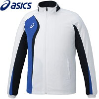 アシックス asics XAT193 SAトレーニング トレーニングジャケット ホワイト×ダークネイビー