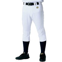 野球用 練習着 ユニフォーム ヒザ2重補強レギュラーパンツ サイズ:M カラー:ホワイト #BU1182P-1100