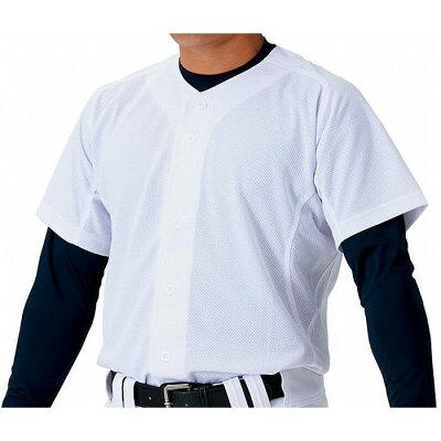 ゼット 野球用 練習着 ユニフォーム メッシュフルオープンシャツ サイズ:O7 カラー:ホワイト #BU1181MS-1100 :