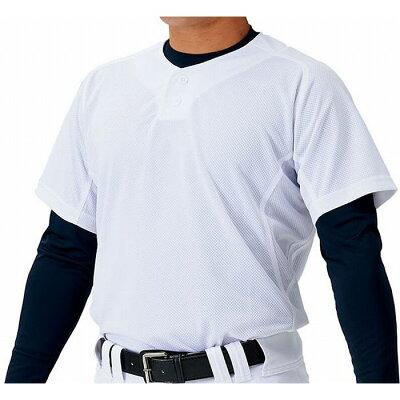 ZETT ゼット 野球 ユニフォーム メッシュ プルオーバーシャツ メカパン サイズ:2XO カラー:ホワイト