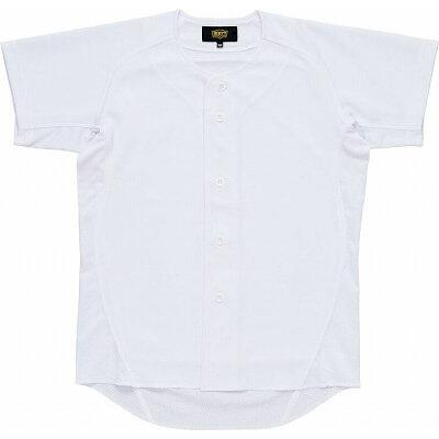 ZETT ゼット 少年用ユニフォーム ニットフルオープンシャツ サイズ:130 カラー:ホワイト