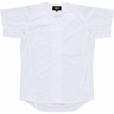 ZETT ゼット 少年用ユニフォーム メッシュフルオープンシャツ サイズ:130 カラー:ホワイト