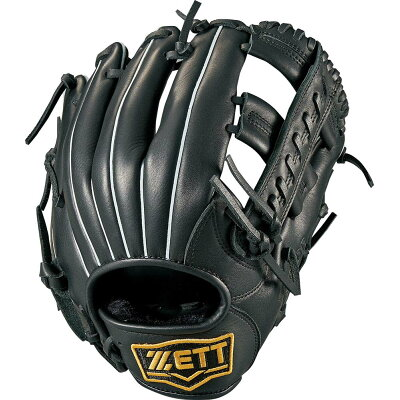 ZETT &ソフト野球グラブ一般中学軟式野球用グラブ バーノン オールラウンドBRGB35820ブラック