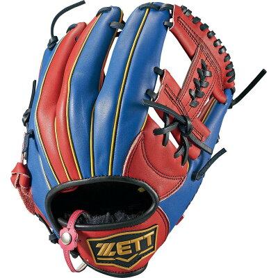 Z-BSGB52810-6423-LH ゼット ソフトボール用グラブ サイズ4・右投用・レッド×ブルー ZETT リアライズ オールラウンド