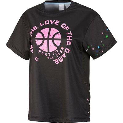 コンバース CONVERSE レディース バスケットボール プリント Tシャツ ブラック/ピンク CB382302 1961