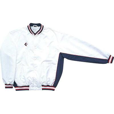 コンバース 8F_ウォームアップジャケット CB182112S 色 : ホワイト/ネイビー サイズ : XO