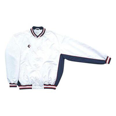 コンバース 8F_ジュニアウォームアップジャケット CB482501S 色 : ホワイト/ネイビー サイズ : 160